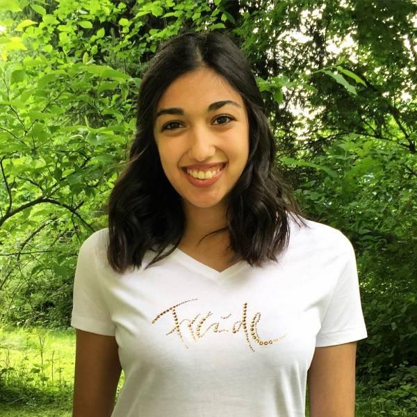 """T-Shirt """"Freude"""" mit Swarovski-Kristallen"""